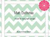 Math Craftivities- A craft for every math concept!