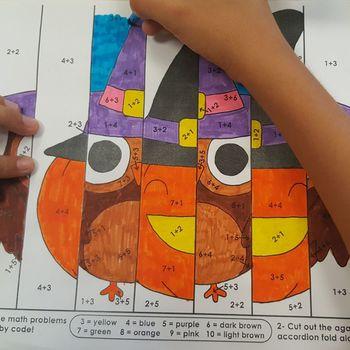 Math Craftivities - Español - Halloween - Agamógrafo - EDITABLE