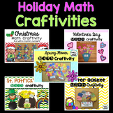 Math Craftivity Bundle {Spring, Christmas, Easter, St. Patrick's & Valentine's}