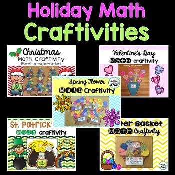 Math Craftivity Bundle {Spring, Christmas, Easter, St. Patrick's & Valentine's}