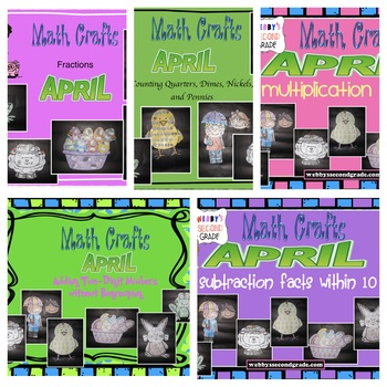 Math Crafts April Bundle