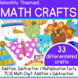 Math Crafts incl. Summer & Back to School
