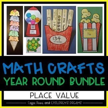 Place Value Craftivity: Year Round Bundle