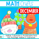 Math Crafts for December -Christmas Themed