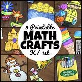 Math Crafts for K / 1st BUNDLE!!