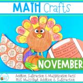 November Math Crafts / Thanksgiving Math