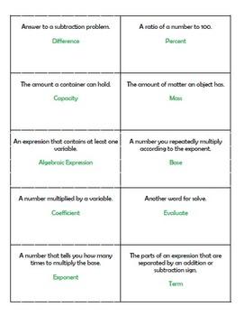 Math Craze Vocabulary Game