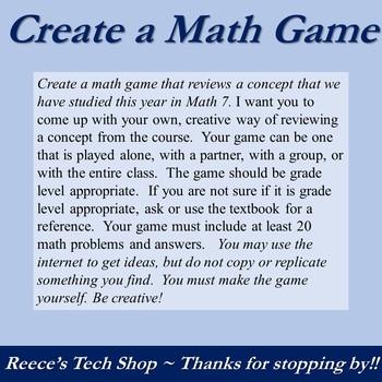 Math Create A Game