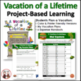 End of Year Project Based Learning: Plan a Vacation Math PBL