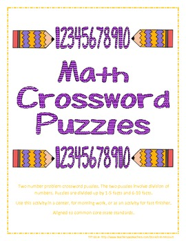 Math Crossword Puzzles for Division