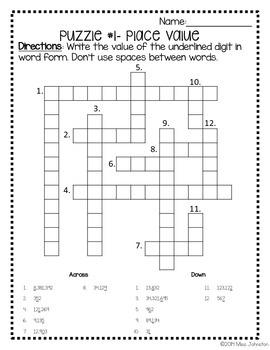 Math Crosswords-CCSS Aligned