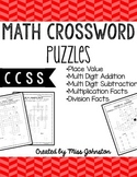 Math Crosswords-CCSS Aligned