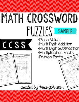 Math Crosswords: Sample