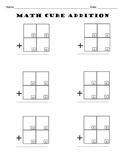 Math Cube Addition / Addition With Regrouping Worksheets / Math Centers Activity