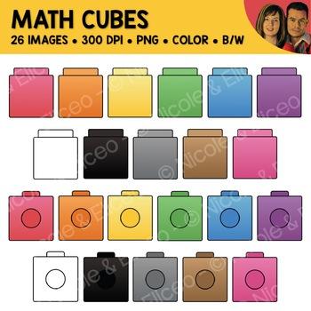 Digital Graphics - Math Cube Clipart