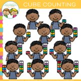 Math Cube Counting Clip Art