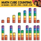 Math Cube Counting Scene Clipart