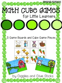 Math Cube Games for Little Learners (Spring Edition)