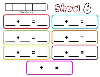 Math Cube Mats and Worksheets