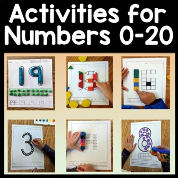 Number Activities with Snap Cubes {Numbers 0-20 ...