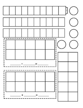 Math - Cubes (10) Tens Frame & Counters