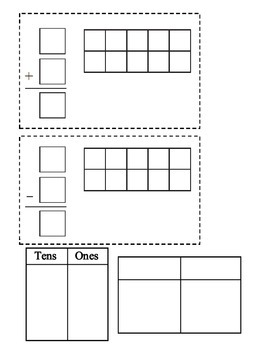 Math - Cubes (10) Tens Frame & Counters