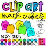 Math Cubes Clip Art / Set of 44 Images