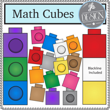 Math Cubes (JB Design Clip Art for Personal or Commercial Use)