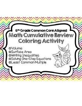 Math Cumulative Review Coloring Page