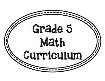Math Curriculum Bulletin Board-Grade 5