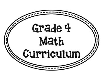 Math Curriculum Bulletin Board-Grade 4