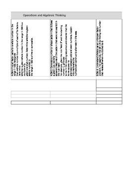 Math Curriculum Mapping Template 3rd Grade