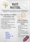 Math Curriculum Night Newsletter