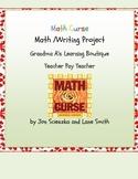 Math Curse Math/Writing Project