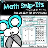 Math Snip It Activities