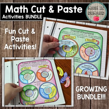Math Cut and Paste Activities