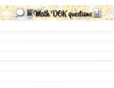 Math DOK questions template