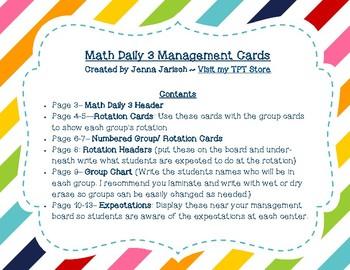 Math Daily 3