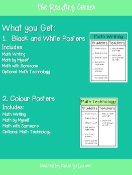 Math Daily 3 Anchor Charts