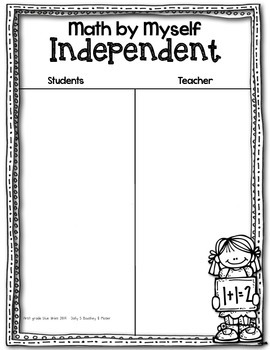 Math Daily 3 I-Charts and Choice Boards