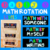 Math Daily 3 Labels