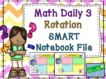 Math Daily 3 Rotation Timer and Grouping Display
