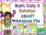 Math Daily 3 Rotation Timer and Grouping Display (Part of