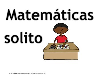 Math Daily 4 Signs in Spanish