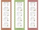 Math Daily 5 Bookmarks Assorted Colors
