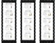 Math Daily 5 Bookmarks Black
