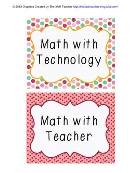 Math Daily 5 Center Cards