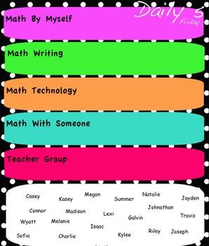Math Daily 5 Choice Chart (Interactive WhiteBoard)