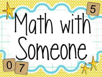 Math Daily 5 Signs