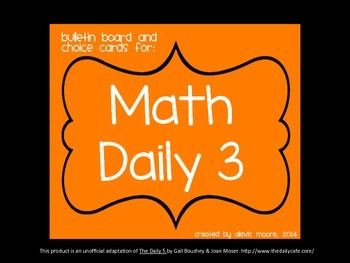 Math Daily 5 Signs and Organizing Tips- FREEBIE!